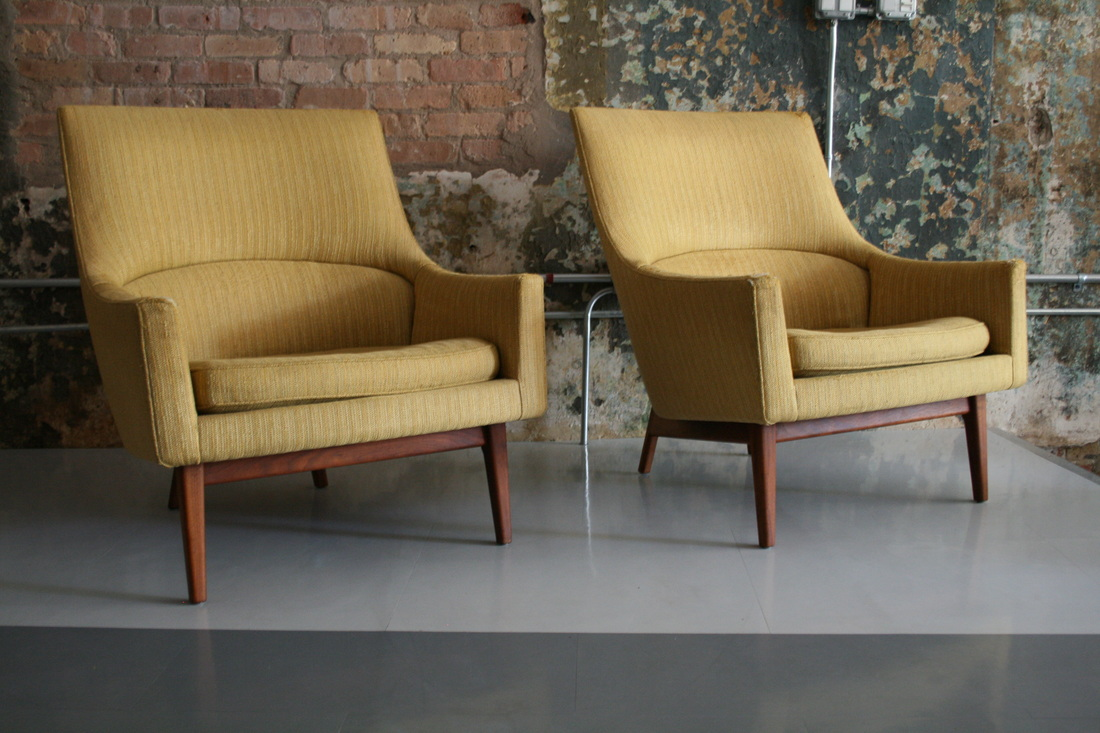 Jens Risom Side Chair Risom Gold Lounge Chairs Circa Modern