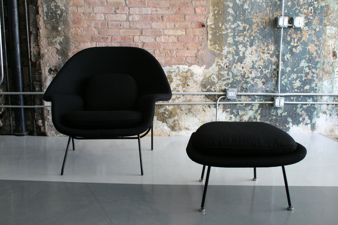 picture picture womb chair and ottoman by eero saarinen