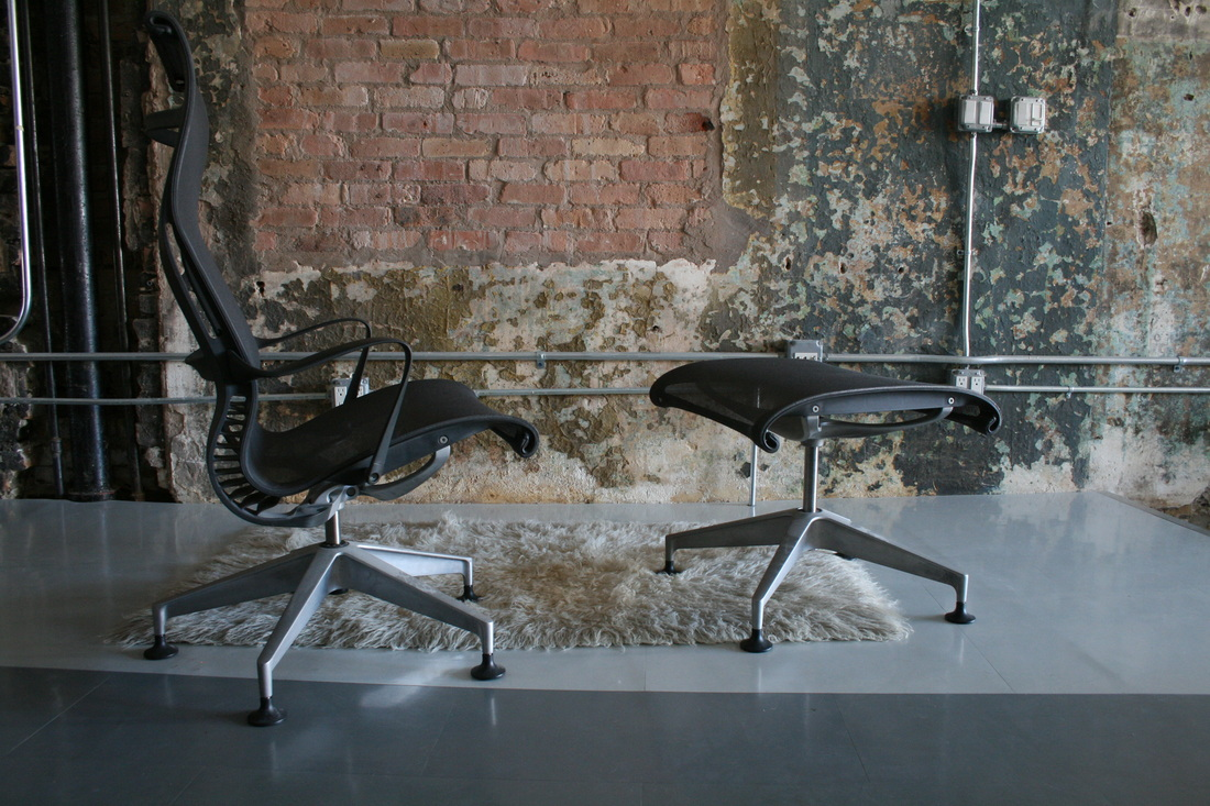 Setu lounge chair and ottoman Herman Miller circa modern