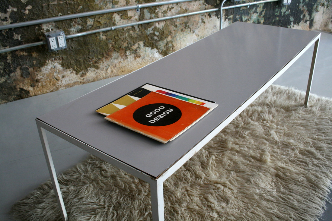 Steel Frame Coffee Table By George Nelson For Herman Miller USA 1950u0027s.  Wonderful White Enameled Steel Frame With A White Micarta Top. Great!